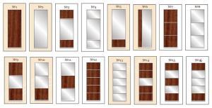 Варіанти поділу дверей